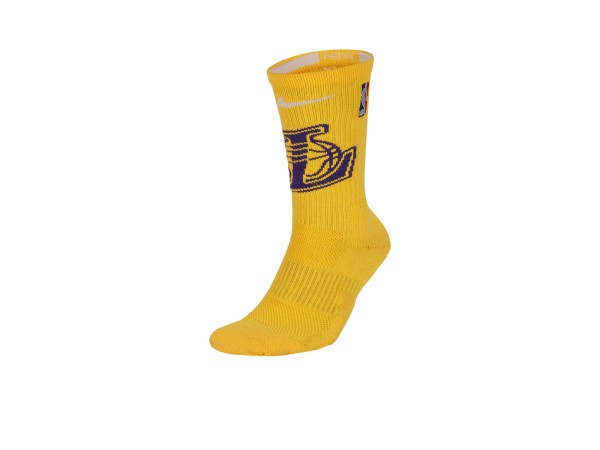Nike NBA Los Angeles Lakers Elite Crew Basketball Socke