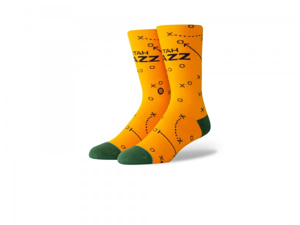 Stance NBA Arena Jazz Playbook Crew Socke