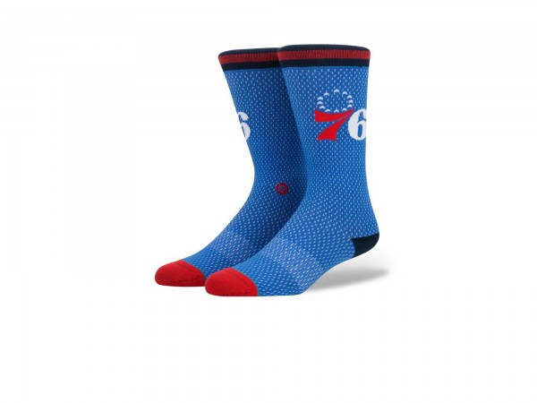 Stance NBA Arena 76ers Jersey Crew Socke